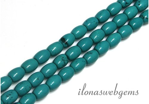 Turqoise beads app. 8x6mm