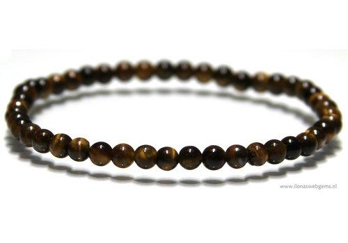 Tijgereye beads bracelet app. 4.8mm