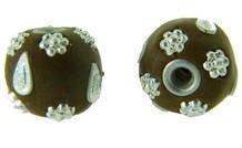 5 stuks handgemaakte `Kashmiri` kraal 20mm