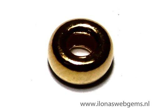 Vermeil Rondell gross Innenloch ca. 6.4x3.5mm