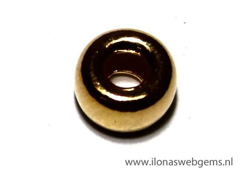 Vermeil roundel great Inside hole app. 6.4x3.5mm