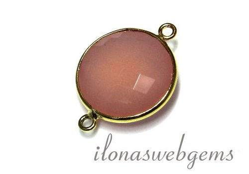 1 Vermeil connector with Chalcedony