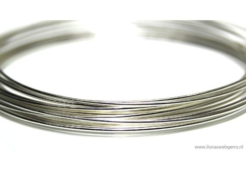1cm sterling zilverdraad norm. 0.7mm / 21GA