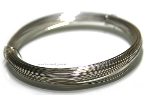 1cm. Silverfilled draad ca. 1mm / 18 gauge half hard
