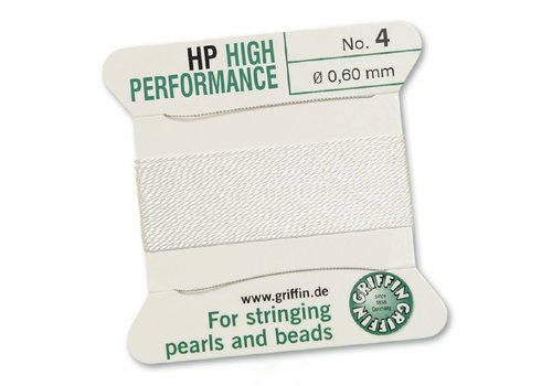 WHITE: Griffin Rijgdraad High Performance 0.60mm No. 4