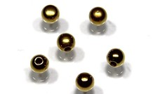 10 stücke vergoldet Memory wire eind Perle