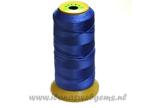 gross rol rijgDraht blau