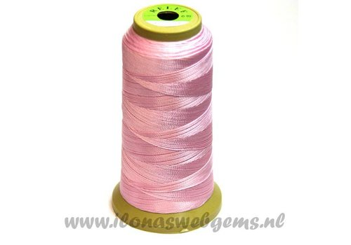 Grote rol rijgdraad licht roze