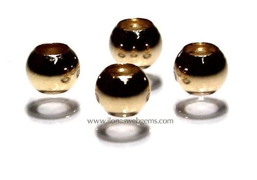 14k / 20 Gold filled bead about 6mm