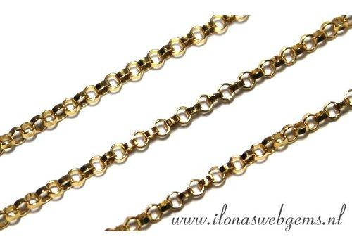 1cm Goldfilled Jasseron schakels / ketting