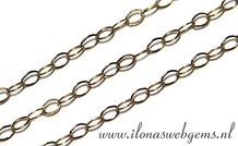 10cm Goldfilled schakels/ketting ca. 2,2mm