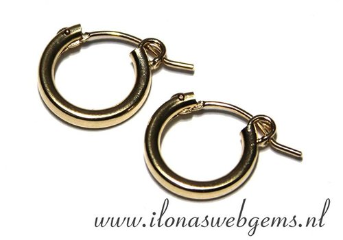 1 pair Goldfilled creolen 15x15x2mm
