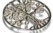 Sterling zilveren hanger levensboom