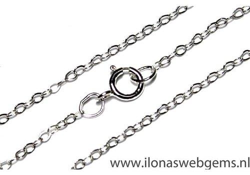 Sterling zilveren ketting 45cm