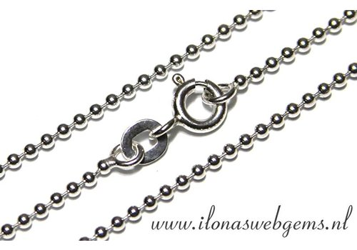 Sterling zilveren ball chain/ketting