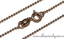 Rosé Vermeil ball chain/ketting