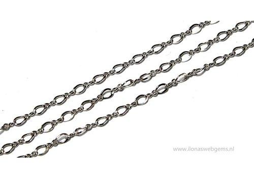 1cm 925/000 Silber Links / Kette