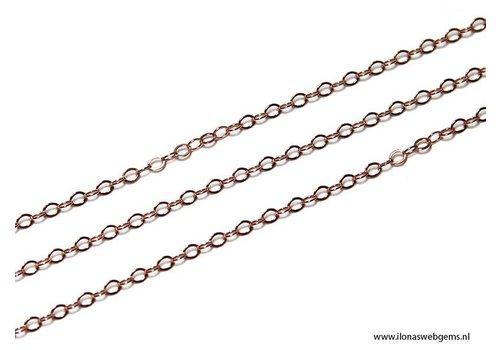 1 cm Rosé Goldfilled schakels / ketting