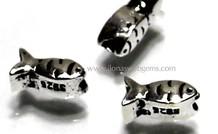 10 stücke 925/000 Silber visje ca. 7x3mm