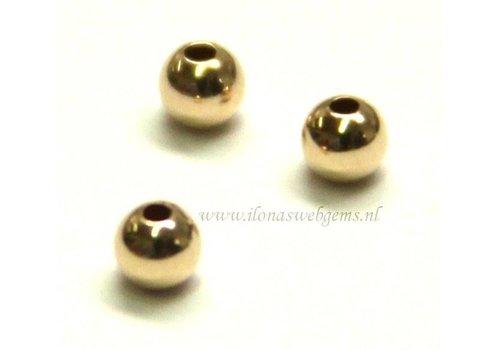 14 karaat gouden kraaltje ca. 3mm