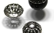 2 stücke 925/000 Silber   Perlenkap ca. 14x6mm