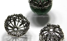 925/000 Silber   Perlenkap ca. 19x9mm