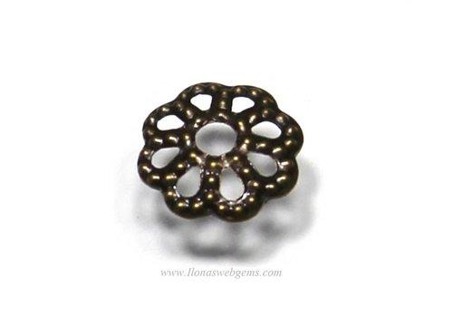100 pieces of bronze color bead cap