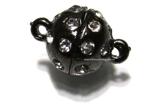 Magnetverschlusse alt Silberkleur ca. 19x12mm