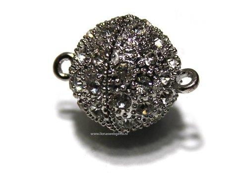 Magnetverschlusse Silberkleur ca. 24x18mm