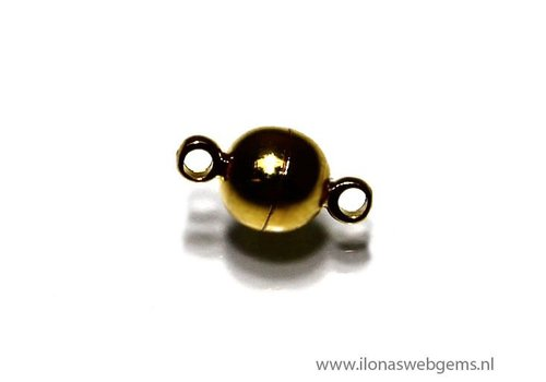 Gold Plated magnetclasp app. 11x6mm