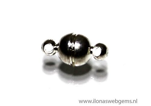 Verzilverd magneetslotje ca. 6mm