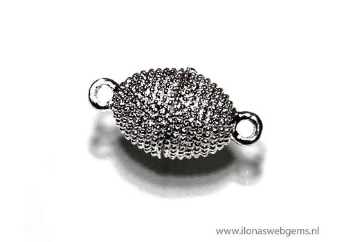 silvered magnetclasp app. 20x10mm