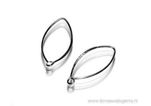 1 Paar Sterling Silber Ohrhaken (klein)