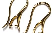 1 Paar Ohrring Vermeil Klammern mit Bail / Anhänger Spange