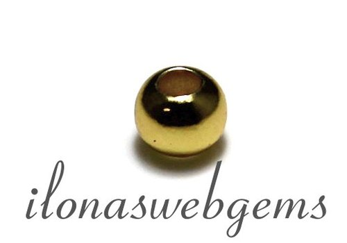 6 Stück Vermeil Distanz- / bead ca. 5mm