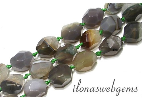 Agate beads soft shape app. 20x17mm