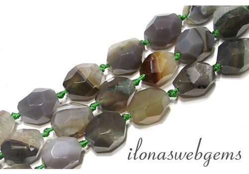 Botswana agate beads soft shape approx. 20x17mm