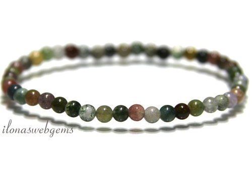 Indian Agate beads bracelet app. 4.4mm