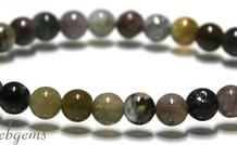 Indian Achat Perlen Armband ca. 6.8mm