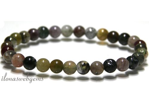 Indian Agate beads bracelet app. 6.8mm