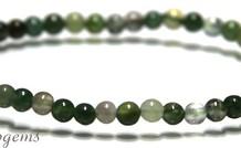 Moss Achat Perlen Armband um 4.3mm