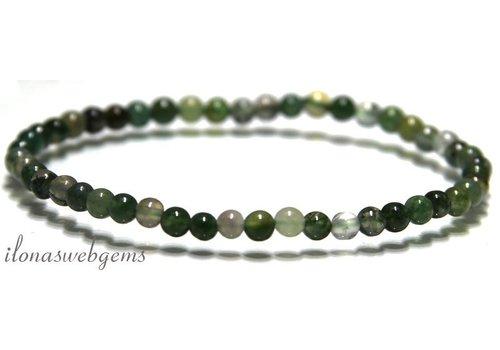Moss agate beads bracelet around 4.3mm