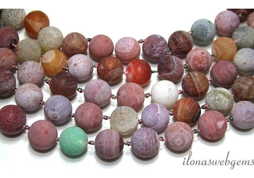 Fire Agate beads app. 20mm