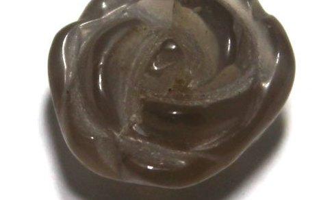 1 Achat Rose ca. 15-13x11-9 mm