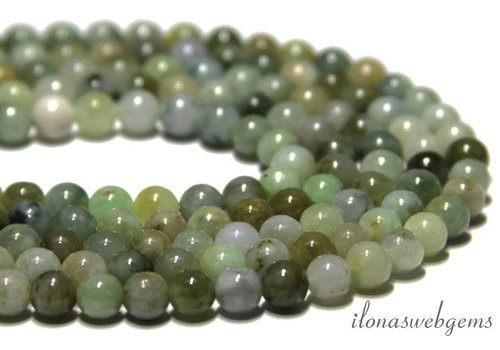 Moss agate beads round app. 6mm