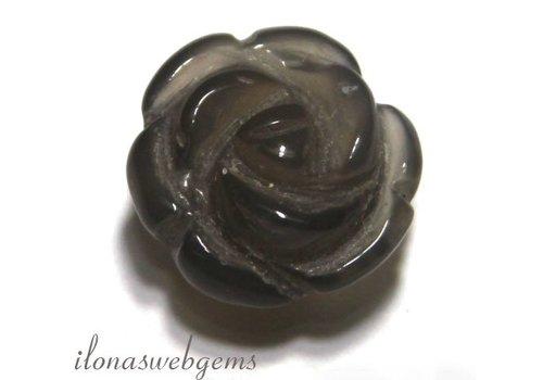 1 Edelsteen roosje Agaat