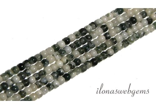 Moss agate beads mini app. 2.5mm