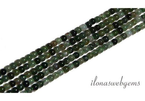 Moss agate beads mini app. 2mm