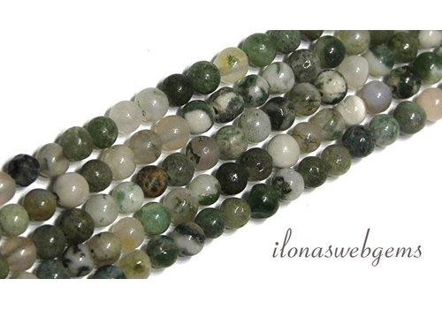 Moss Achat Perlen etwa 4,5 mm