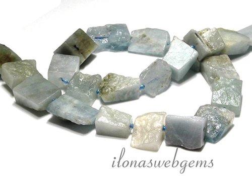 Aquamarine beads app. 19x13x11mm
